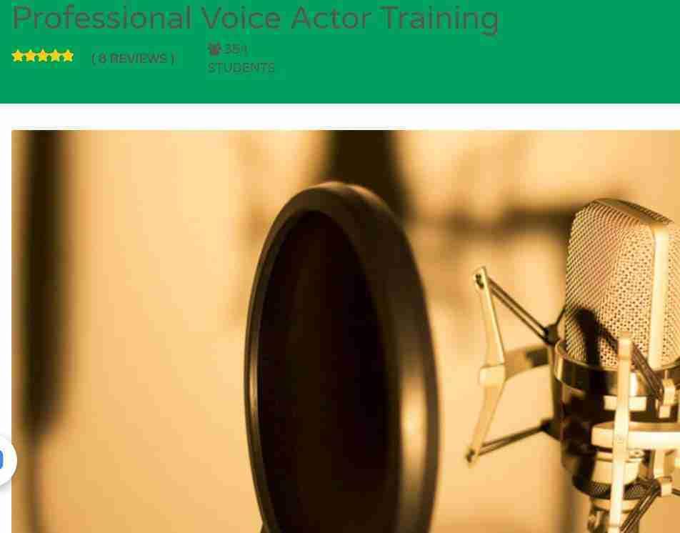 كورس Professional Voice Actor Training