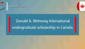 Donald A. Wehrung International undergraduate scholarship in Canada