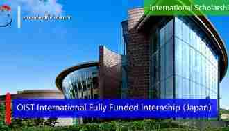 OIST International Fully Funded Internship in Japan
