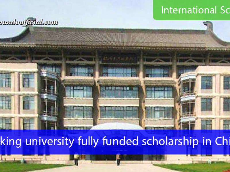 Peking university fully funded scholarship in China