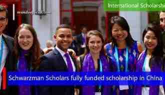 Schwarzman Scholars fully funded Master scholarship in China