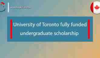 University of Toronto undergraduate scholarship fully funded