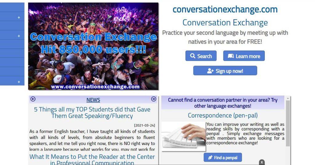 تطبيق Conversation Exchange من المواقع المضمونة لممارسة اللغة الإنجليزية أو غيرها مع الأجانب