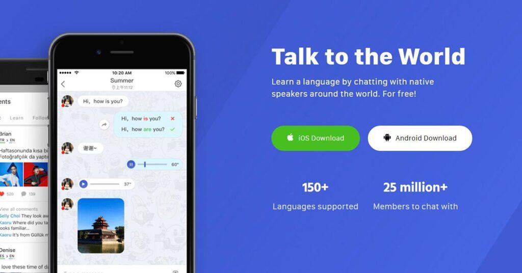 تطبيق HelloTalk من المواقع المضمونة لممارسة اللغة الإنجليزية أو غيرها مع الأجانب