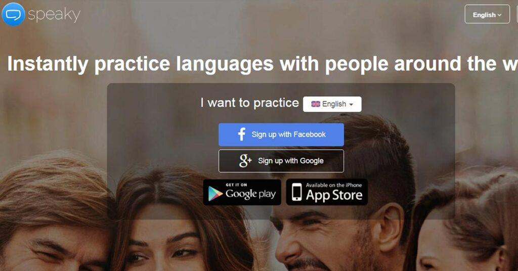 تطبيق Speaky من المواقع المضمونة لممارسة اللغة الإنجليزية أو غيرها مع الأجانب