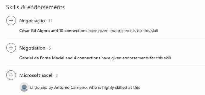 احصل على توصيات ومصادقات لمهارات العمل في موقع لينكد إن